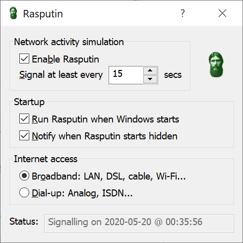 Rasputin 3.25 Screen shot